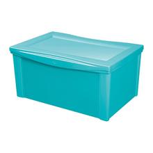 Caixa Organizadora Plástico Verde 30,7x63,5x42,5cm 65L Ordene