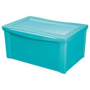 Caixa Organizadora Plástico Verde 65L 30,7x63,5x42,5cm Ordene