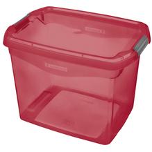 Caixa Organizadora Plástico Vermelha 11L 23,1x22,8x31,8cm Sanremo