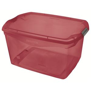 Caixa Organizadora Plástico Vermelha 29L 27,6x33,1x48,7cm Sanremo