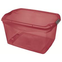 Caixa Organizadora Plástico Vermelha 68L 33,1x44,1x63,1cm Sanremo