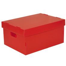 Caixa Organizadora Plástico Vermelho 11,3L 20x40x50cm Spaceo
