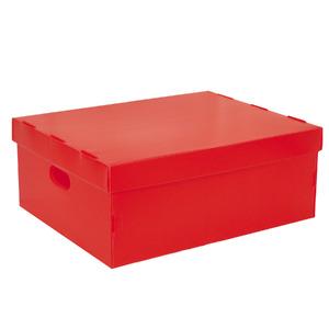 Caixa Organizadora Plástico Vermelho 6,9L 20x30x40cm Spaceo