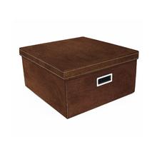 Caixa Organizadora Quadrada Marrom 20x40x40cm Luxo