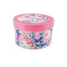 Caixa Organizadora Redonda 2,7L Floral Plasútil