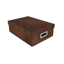 Caixa Organizadora Retangular Marrom 12x27x39cm Luxo