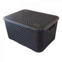 Caixa Organizadora Retangular Preto 22x32x15cm Nitron