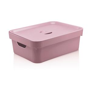 Caixa Organizadora Rosa 13x36,5x27,5 em Plástico