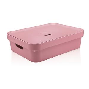 Caixa Organizadora Rosa 13x45x35,5 em Plástico Nordi OU