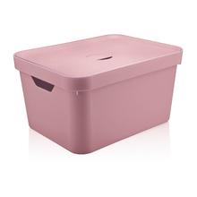 Caixa Organizadora Rosa 24,5x46x36 em Plástico