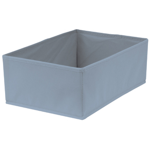 Caixa Organizadora Tecido Azul sem Alça 13x23x33cm Spaceo
