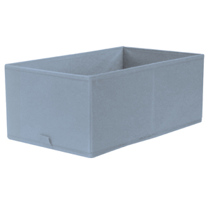 Caixa Organizadora Tecido Azul sem Alça 18x26x44cm Spaceo