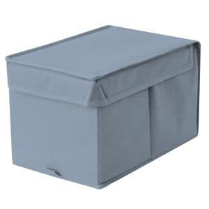 Caixa Organizadora Tecido Azul sem Alça 18x29x18cm Spaceo