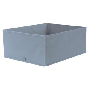 Caixa Organizadora Tecido Azul sem Alça 18x35x44cm Spaceo