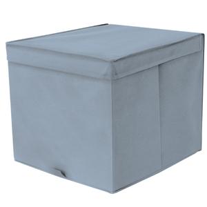 Caixa Organizadora Tecido Azul sem Alça 35x44x33cm Spaceo