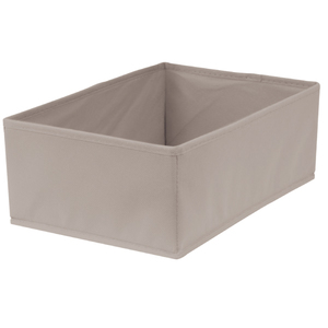 Caixa Organizadora Tecido Cinza sem Alça 13x23x33cm Spaceo