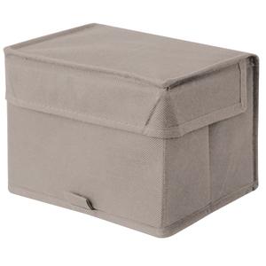 Caixa Organizadora Tecido Cinza sem Alça 14x18x13cm Spaceo