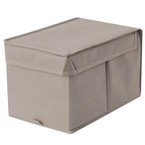 Caixa Organizadora Tecido Cinza sem Alça 18x29x18cm Spaceo
