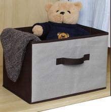 Caixa Organizadora Tecido Cinza  com Alça 25,5x39x6cm Spaceo