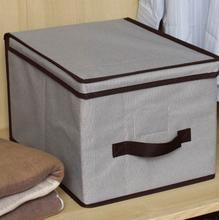 Caixa Organizadora Tecido Cinza  com Alça 40x30x25cm Spaceo
