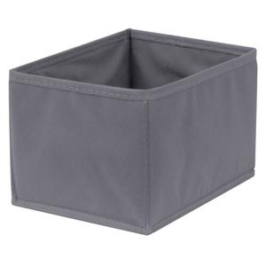 Caixa Organizadora Tecido Cinza Escuro sem Alça 13x15x20cm Spaceo