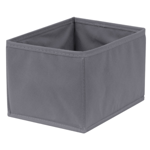 Caixa Organizadora Tecido Cinza Escuro sem Alça 13x20x38cm Spaceo