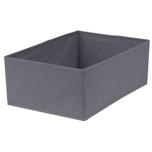 Caixa Organizadora Tecido Cinza Escuro sem Alça 13x23x33cm Spaceo