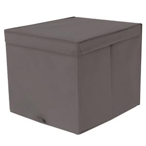 Caixa Organizadora Tecido Cinza Escuro sem Alça 35x44x33cm Spaceo