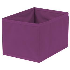 Caixa Organizadora Tecido Roxo sem Alça 13x15x20cm Spaceo