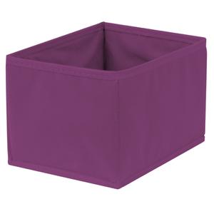 Caixa Organizadora Tecido Roxo sem Alça 13x20x38cm Spaceo