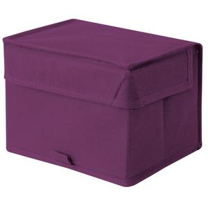 Caixa Organizadora Tecido Roxo sem Alça 14x18x13cm Spaceo