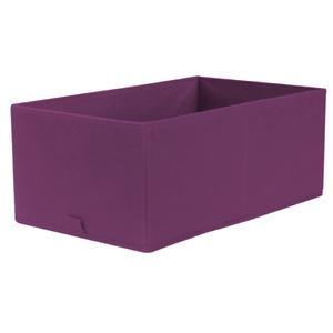Caixa Organizadora Tecido Roxo sem Alça 18x26x44cm Spaceo