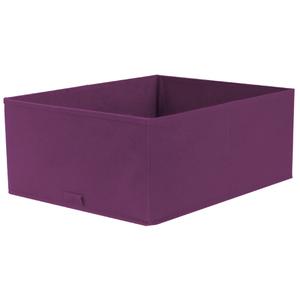 Caixa Organizadora Tecido Roxo sem Alça 18x35x44cm Spaceo