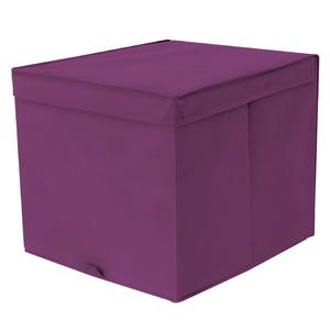 Caixa Organizadora Tecido Roxo sem Alça 35x44x33cm Spaceo
