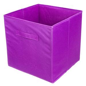 Caixa Organizadora Tecido Roxo  31x31x31 cm Tecido Importado