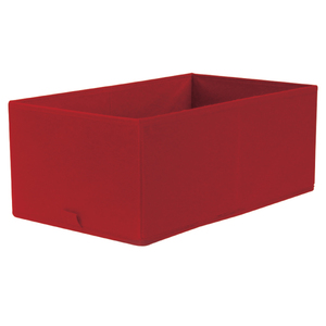 Caixa Organizadora Tecido Vermelha sem Alça 13x20x38cm Spaceo
