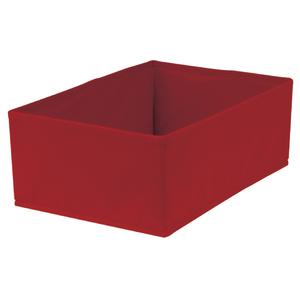 Caixa Organizadora Tecido Vermelha sem Alça 13x23x33cm Spaceo