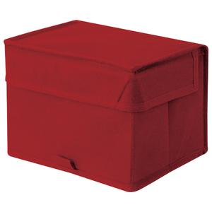 Caixa Organizadora Tecido Vermelha sem Alça 14x18x13cm Spaceo