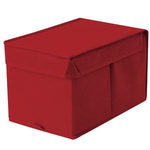 Caixa Organizadora Tecido Vermelha sem Alça 18x29x18cm Spaceo