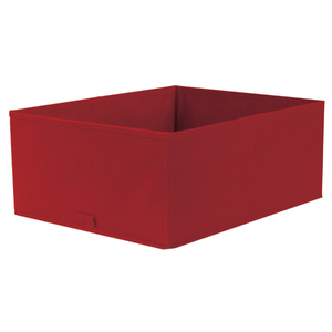 Caixa Organizadora Tecido Vermelha sem Alça 18x35x44cm Spaceo
