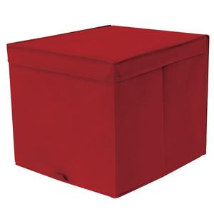 Caixa Organizadora Tecido Vermelha sem Alça 35x44x33cm Spaceo