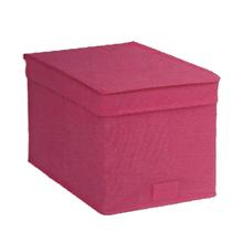 Caixa Organizadora TNT Rosa 17,5x17,5x28,5cm Spaceo