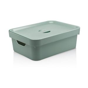 Caixa Organizadora Verde 13x36,5x27,5 em Plástico