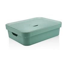 Caixa Organizadora Verde 13x45x35,5 em Plástico