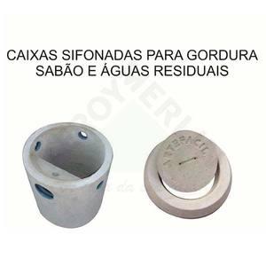 Caixa Sifonada para Gordura , Sabão e Águas Residenciais 31 Litros Artefacil