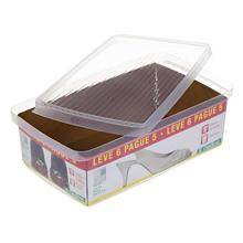 Caixa para Sapato Plástico Transparente 11x20x36cm Ordene