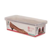 Caixa para Sapato Plástico Transparente 9x12,80x30,50cm