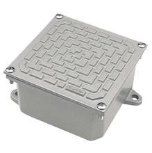 Caixa Passagem Piso com Tampa Reversível Alumínio SAE 306 Cinza 15 x 10 x 15 cm Tramontina