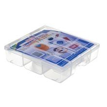 Caixa Organizadora Plástico 1,47L Incolor com Tampa 4,50x16,70x19,50cm Organizadores São Bernardo