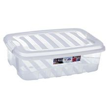 Caixa Organizadora Plástico 13,7L Incolor com Tampa 13,80x32,60x45,70cm Organização Plasútil